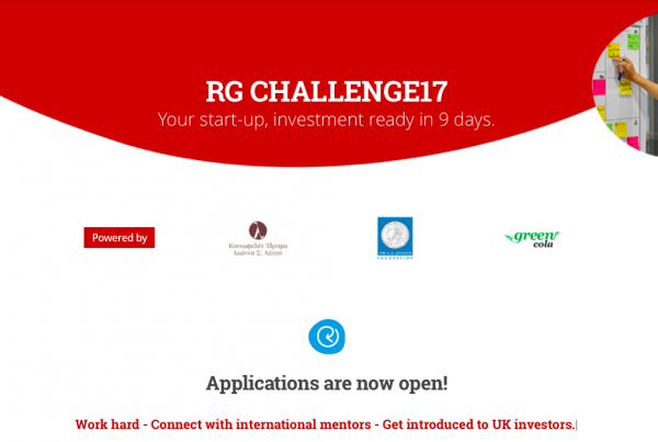 RG Challenge17: Work hard - Connect with international mentors - Get introduced to UK investors